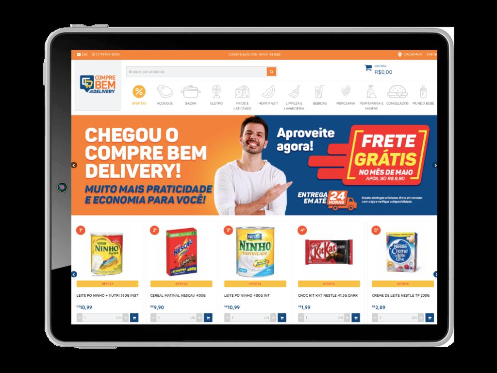 Comece a vender hoje através do <br> e-commerce para Supermercado